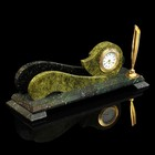 Визитница «Волна»: подставка для ручки, часы