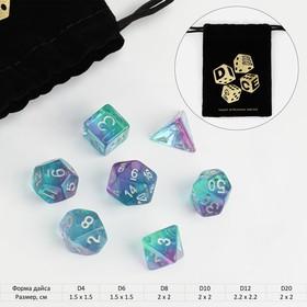 """Набор кубиков для D&D (Dungeons and Dragons, ДнД), серия: D&D, """"Алмаз"""", 7 шт"""