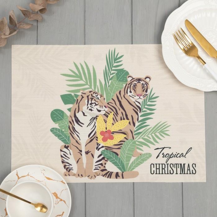 Салфетка на стол Tropical Christmas ПВХ, 40х29 см