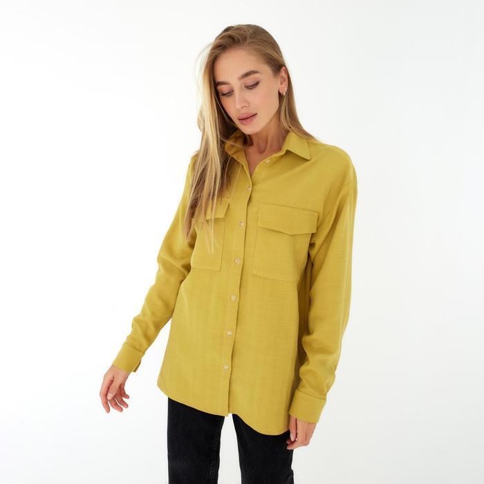 Рубашка женская MIST р. 52-54, охра - фото 2918854