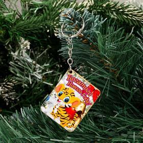 """Брелок """"Богатого Нового Года!"""" тигр в снегу в Донецке"""