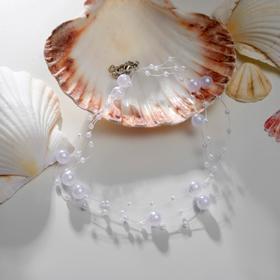 """Чокер """"Невеста"""" жемчужинки, цвет белый, 30см"""