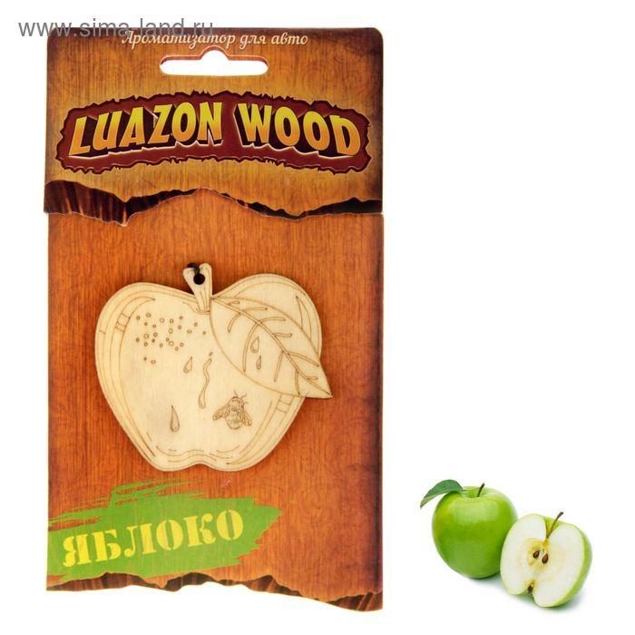 "Ароматизатор для авто Luazon Wood ""Яблоко"", аромат зеленое яблоко"