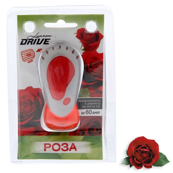 Ароматизатор для авто Luazon Drive на дефлектор, роза