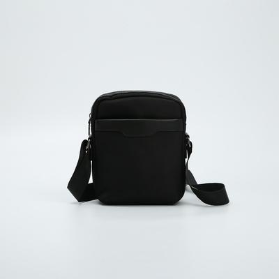 Сумка мужская, отдел на молнии, 2 наружных карман, цвет чёрный