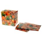Коробка сборная квадратная «Мандарины», 15.3 × 15.3 см