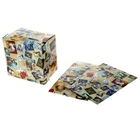Коробка сборная квадратная «Марки», 15.3 × 15.3 см
