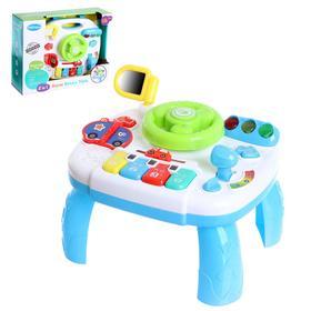 Развивающий столик «Малыш водитель», световые и звуковые эффекты