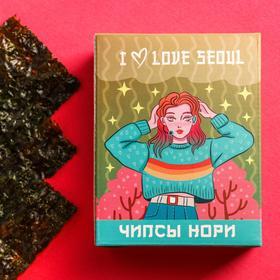 Чипсы нори I love Seoul, 4,5 г