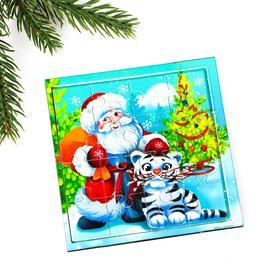 Пазл «Дед Мороз и тигрёнок»