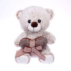 Мягкая игрушка «Мишка с сердцем», 25 см, цвета МИКС