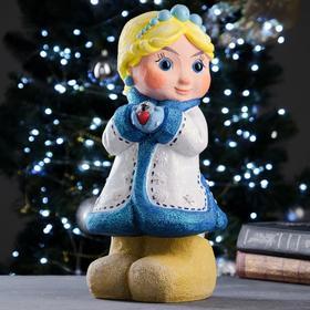 "Копилка ""Снегурочка Наташа в голубом"" 20х20х37см"