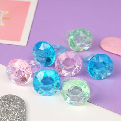 """Кольцо """"Выбражулька"""" кристаллик, цвет МИКС, размер 17,5"""