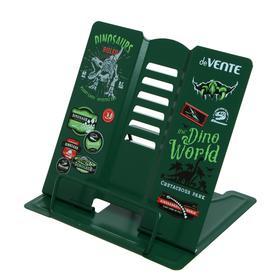 Подставка для учебников и книг металлическая 15.4 х 15.2 см, deVENTE T-Rex, вес 235 г, с противоскользящими ножками, зеленый