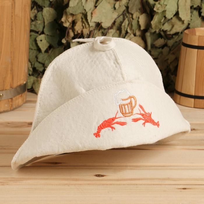 "Шляпа для бани ""Раки, пиво"" - фото 1679756"