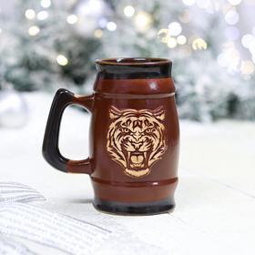 """Кружка """"Тигр"""", коричневая, символ года 2022, 0.3л в Донецке"""