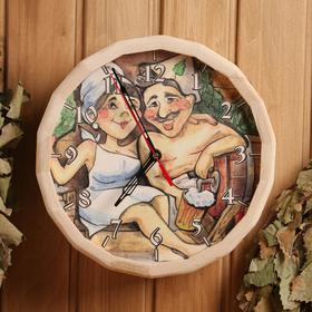 """Часы банные """"№4"""" с рисунком"""