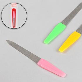 Пилка металлическая для ногтей, в чехле, 12 см, цвет МИКС в Донецке
