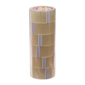 Клейкая лента Упаковочная 48 мм * 100 метров * 40 мкм (6 штук)
