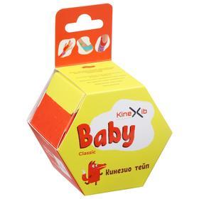 Кинезио тейп Kinexib Classic Baby, 4 см х 4 м, цвет красный, принт лиса