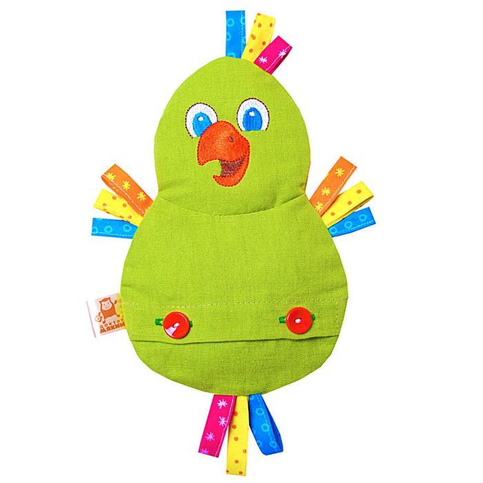 Развивающая игрушка с вишнёвыми косточками «Попугай. Доктор мякиш» - фото 554490