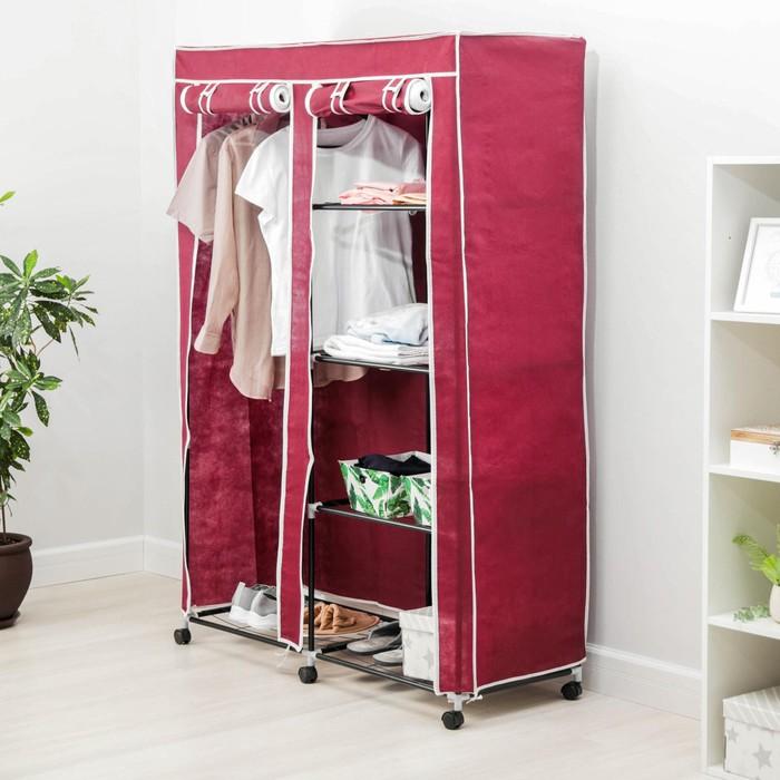Шкаф для одежды 120×45×165 см, цвет бордовый