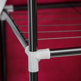 Шкаф для одежды 120×45×165 см, цвет бордовый - фото 4640547