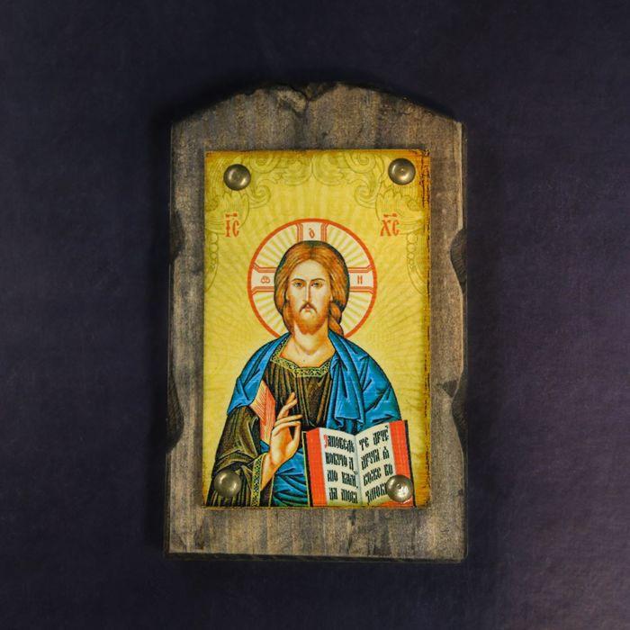 """Икона над дверью под старину """"Господь Вседержитель"""""""