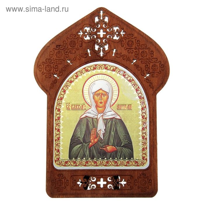 """Ажурная икона на подставке """"Святая Матрона Московская"""""""