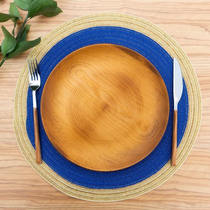Салфетка сервировочная Доляна «Лана», d=38 см, цвет синий
