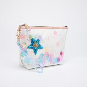 Косметичка-сумочка, отдел на молнии, с ручкой, цвет белый, «Смайлики»