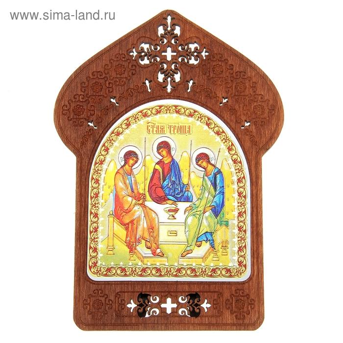 """Ажурная икона на подставке """"Святая Троица"""""""