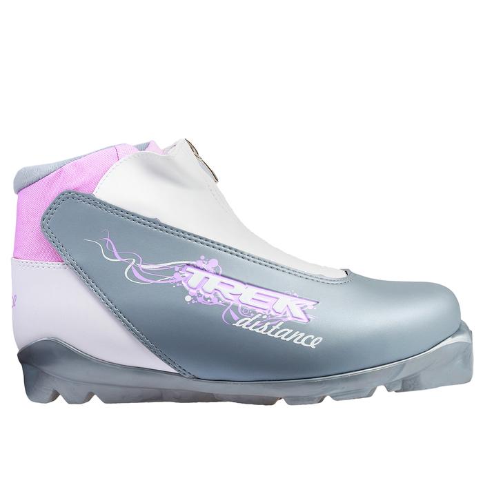 Ботинки лыжные TREK Distance Women Comfort SNS ИК, размер 40, цвет серый металлик