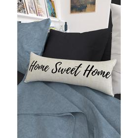 Подушка декоративная валик с лузгой гречихи, размер 20х50 см, цвет бежевый