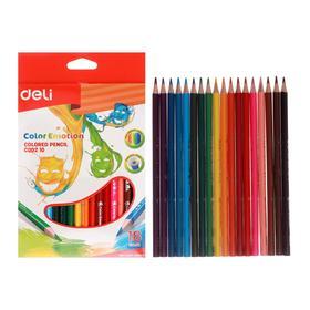 18 colors pencils Deli Color Emotion, trothed, euro-plaster