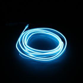 Неоновая нить для подсветки салона, белая, 1 м