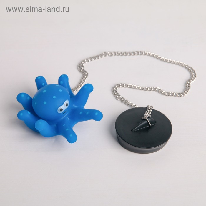 """The bath tube with toy """"Octopus"""", d=4.8 cm, chain 40 cm"""