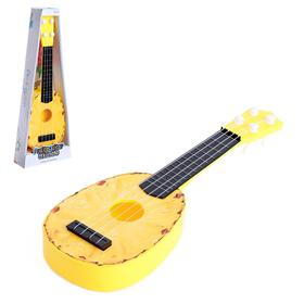 Музыкальная игрушка-гитара «Ананасик», цвет жёлтый