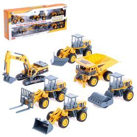Игровой набор «Строительная площадка», 6 машин с подвижными элементами