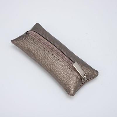Ключница, длина 14 см, отдел на молнии, цвет бронзовый