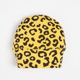 Шапочка детская, жёлтый/мимоза, размер 36