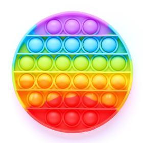Антистресс игрушка «Вечная пупырка», круглая, радуга
