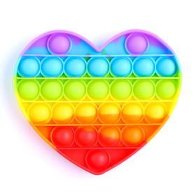 Антистресс игрушка «Вечная пупырка», сердце, радуга