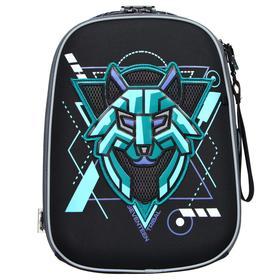 Рюкзак каркасный Seventeen, 40 x 28 x 15 см, эргономичная спинка, EVA, с вышивкой, «Волк»