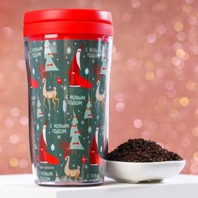Подарочный набор «Дед мороз»: чай 20 г., термостакан 250 мл.