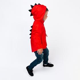 Ветровка детская, цвет красный, рост 98-104 см