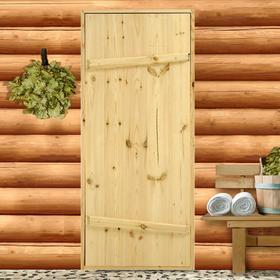 """Дверной блок для бани, 160×70см, из сосны, на клиньях, массив, """"Добропаровъ"""""""