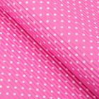 "Paper corrugated ""White polka dots"", color pink"