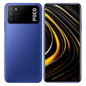 Смартфон Xiaomi POCO M3 (M2010J19CG), 6.53'', IPS, 4Гб, 128Гб, 48 Мп, 8 Мп, 6000 мАч, синий