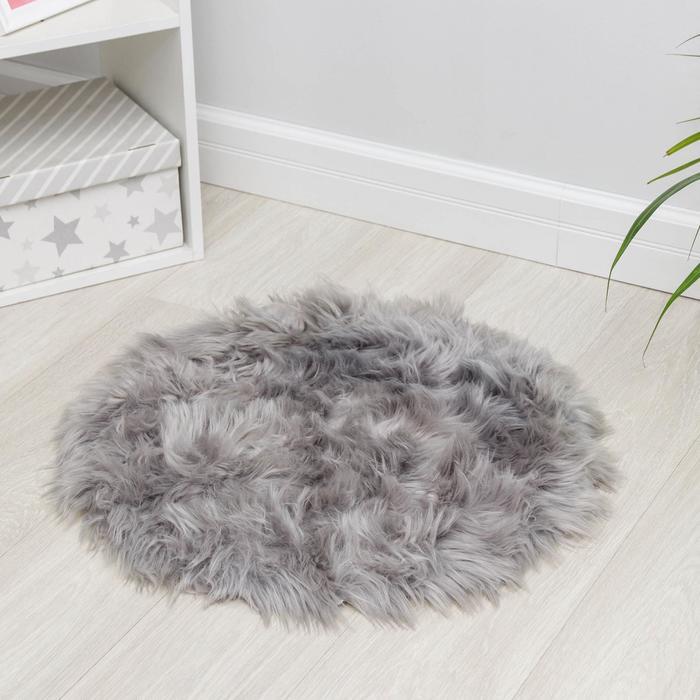 Коврик Доляна «Вини», 60×60 см, цвет серый